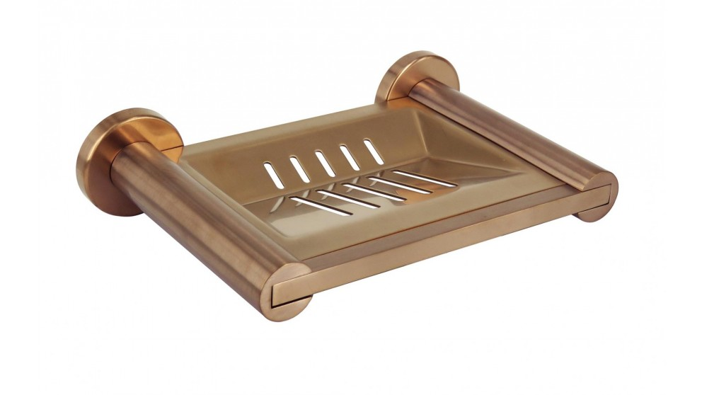 Arcisan Axus Soap Dish - Brushed Rose Gold PVD