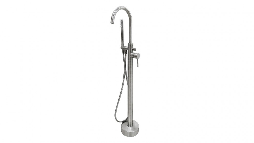 Arcisan Synergii Axus Freestanding Bath Mixer with Hand Shower - Satin Nikel PVD