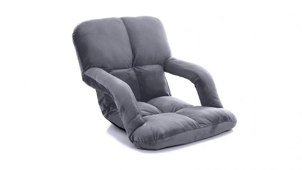 Soga Floor Recliner Lazy Chair with Armrest - Grey