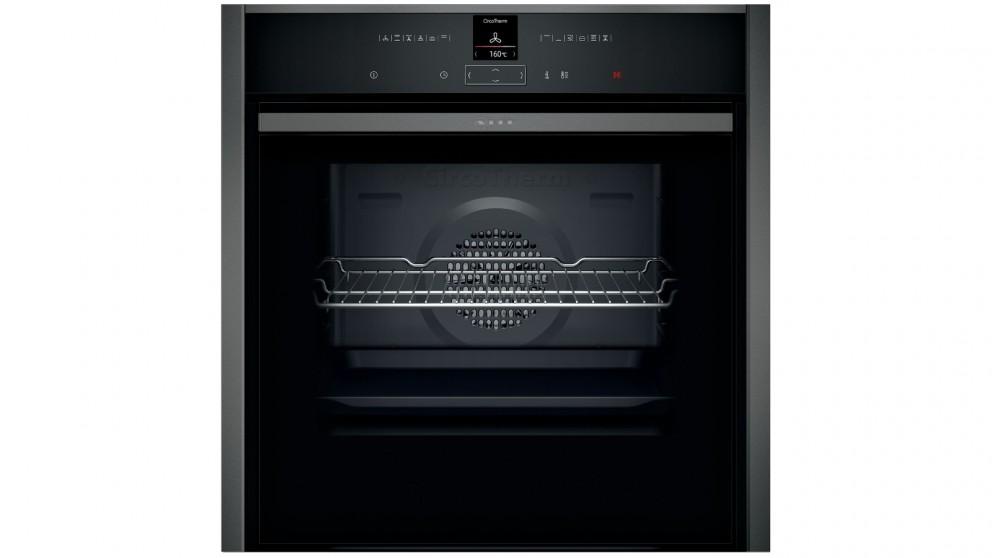 NEFF 600mm N 70 Slide&Hide Pyrolytic Oven - Graphite Grey