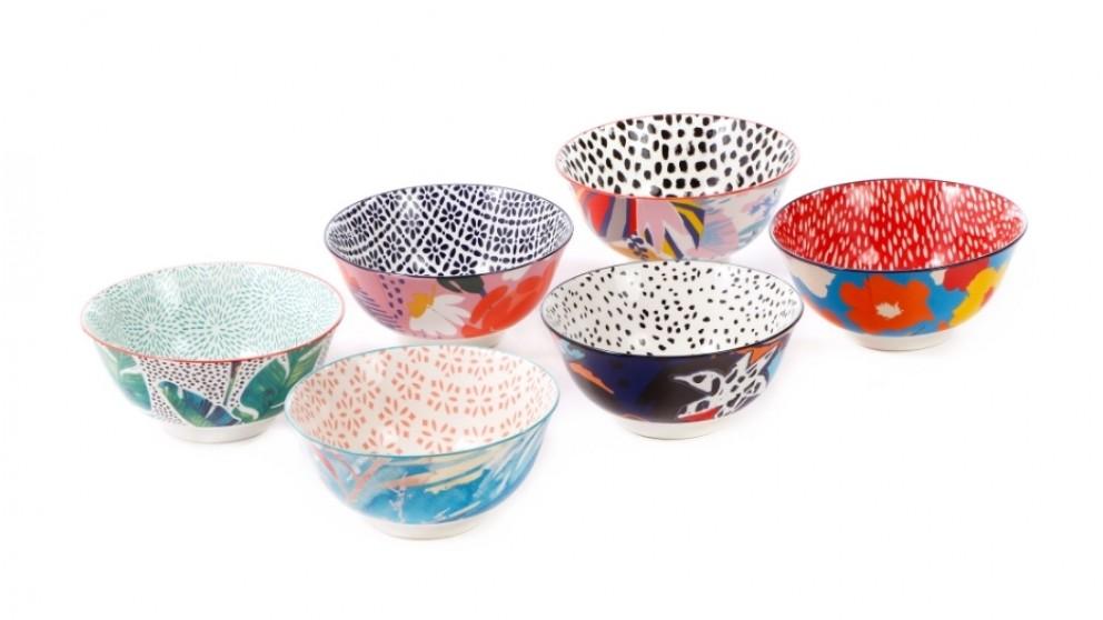Cooper & Co. Ceramic Garden Lifestyle Bowls Large 15cm - Set of 6