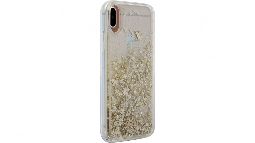 3SIXT PureGlitz Case for iPhone X - Gold/Silver