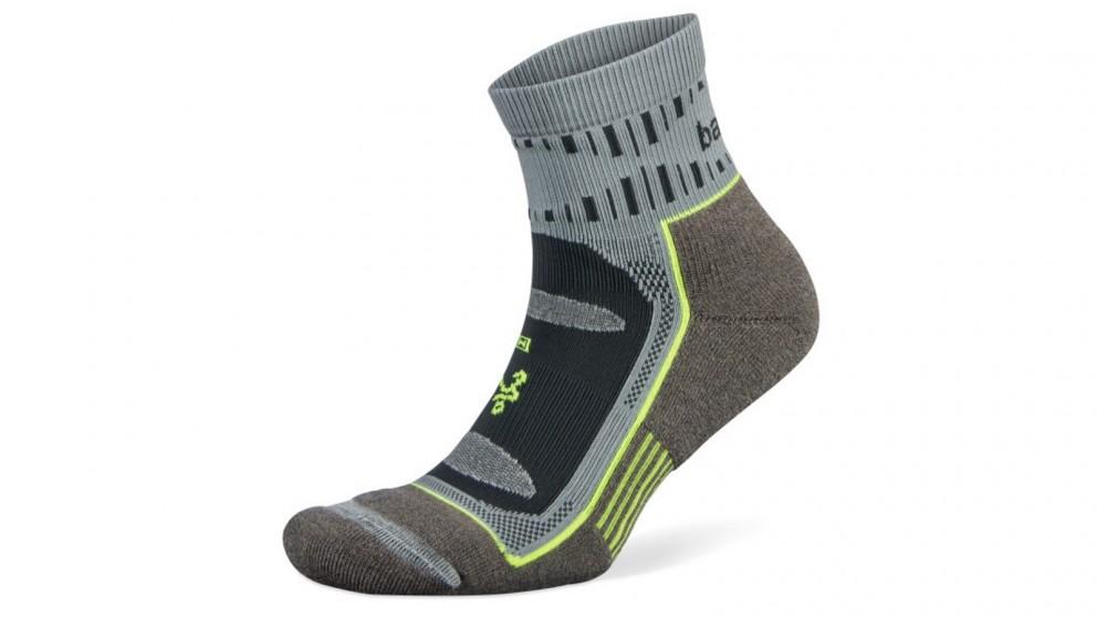 Balega Medium Blister Resist Quarter Socks - Mink/Grey