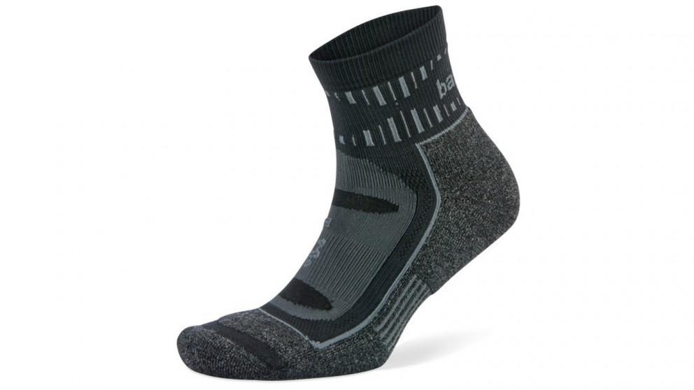 Balega X-Large Blister Resist Quarter Socks - Grey/Black