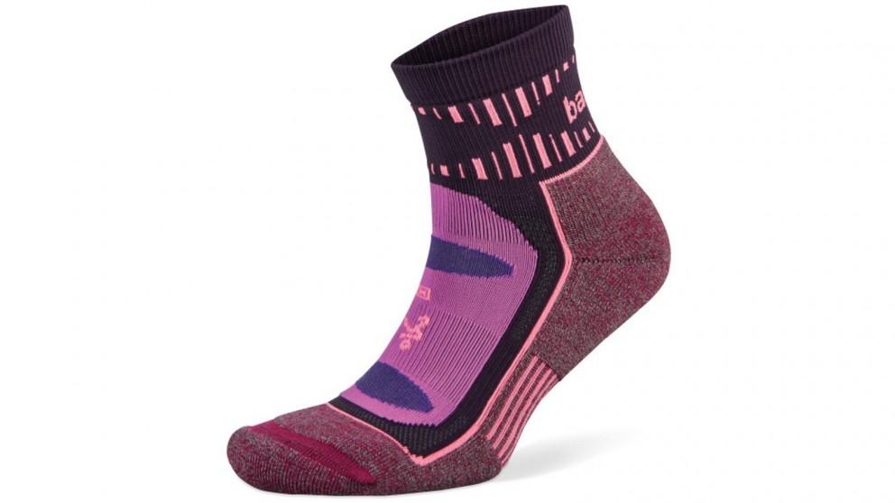 Balega Medium Blister Resist Quarter Socks - Pink/Wildberry