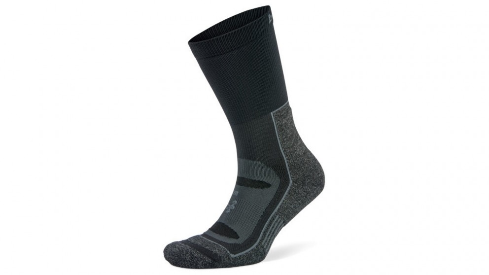 Balega X-Large Blister Resist Crew Socks - Grey/Black