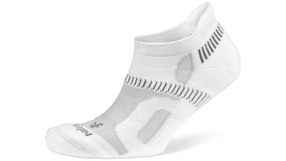 Balega Hidden Contour No Show White Socks - Small
