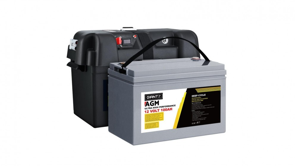 Giantz 100AH Deep Cycle 12V Battery +Box
