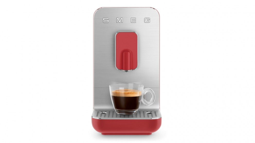 Smeg Bean to Cup Automatic Coffee Machine - Red Matte