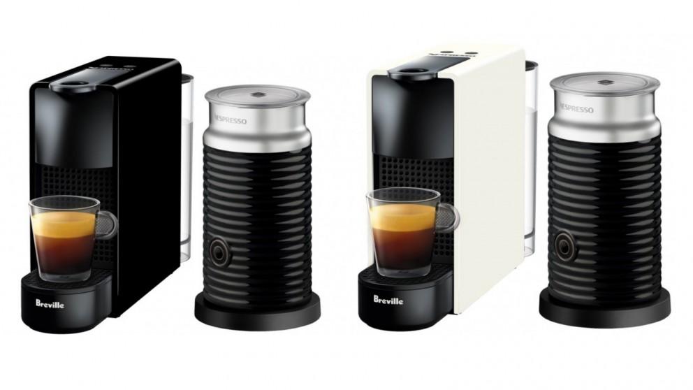 Nespresso Essenza Mini Capsule Coffee Machine with Milk Frother by Breville