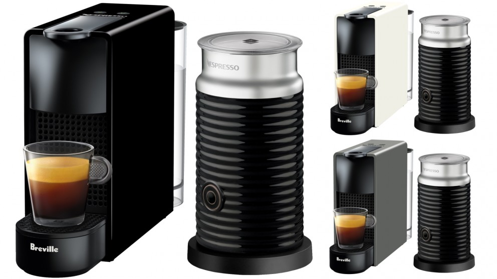 nespresso capsule coffee machine with milk frother