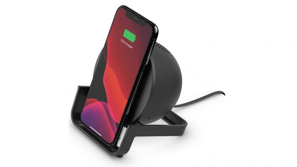 Belkin BoostCharge 10W Wireless Charging Stand + Speaker - Black