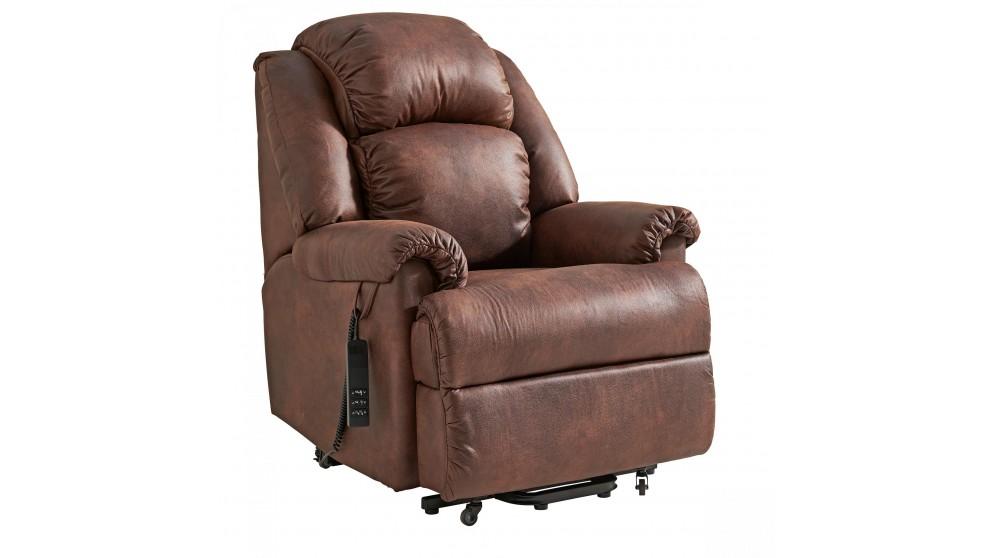 Ben Fabric Dual Motor Lift Chair - Brown