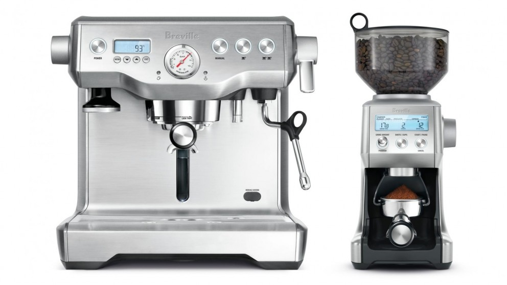 Breville Dynamic Duo Coffee Machine and Grinder - Stainless Steel