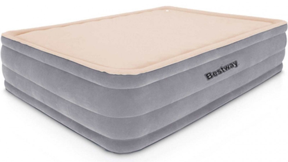 Bestway Queen Inflatable 46cm Air Bed - Grey and Beige