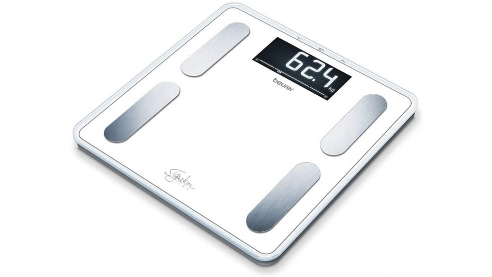 Beurer BF400W Signature Digital Glass Body Fat Scale - White