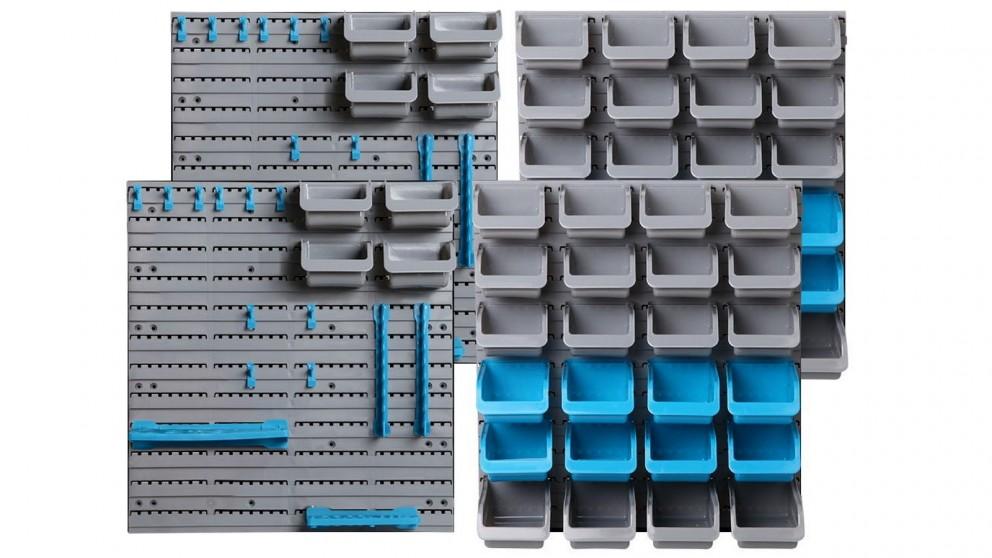 Giantz 88 Bin Wall Mounted Storage Rack