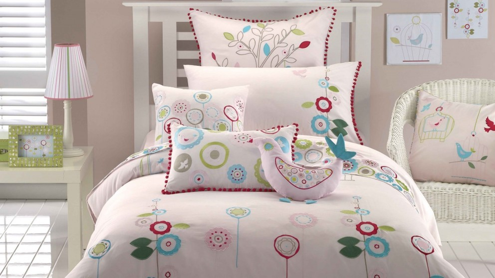 Love Bird Quilt Cover Set - Double