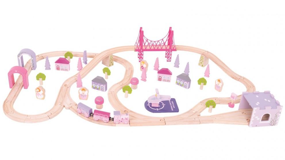 Bigjigs Fairy Town Train Set - 75 Pieces