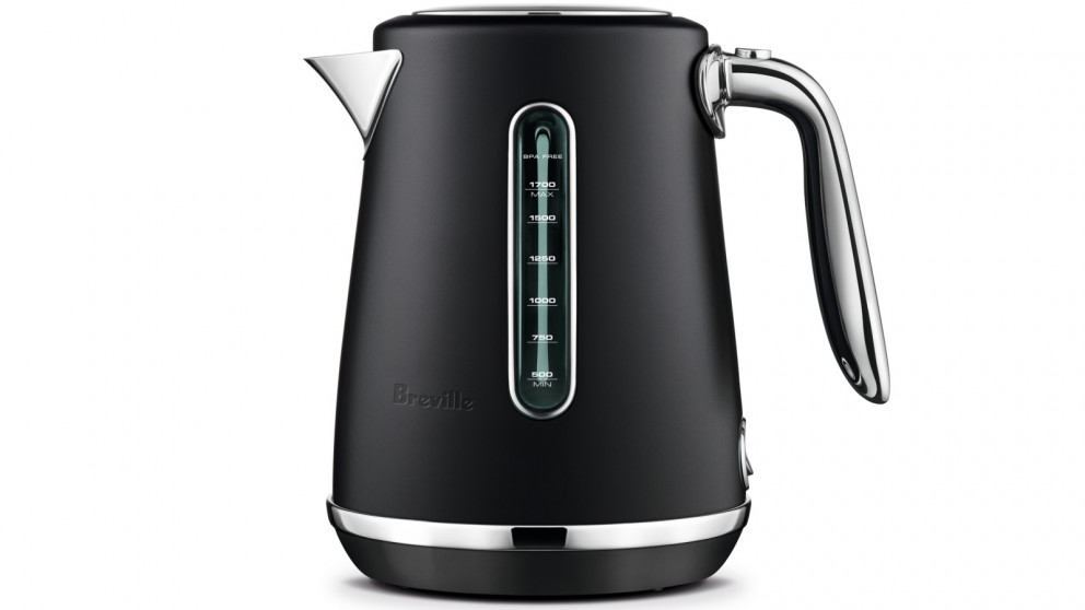 Breville Soft Top Luxe 1.7L Kettle - Black Truffle