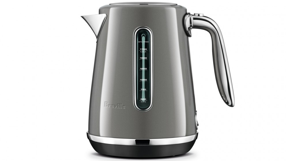 Breville Soft Top Luxe 1.7L Kettle - Smoked Hickory