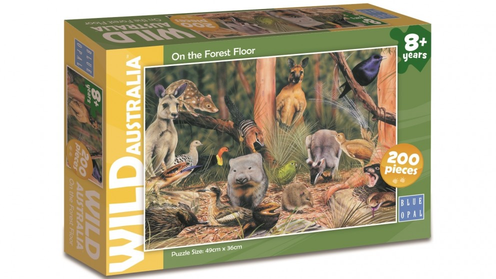 Blue Opal Wild Australia On the Forest Floor 200 Pieces Puzzle