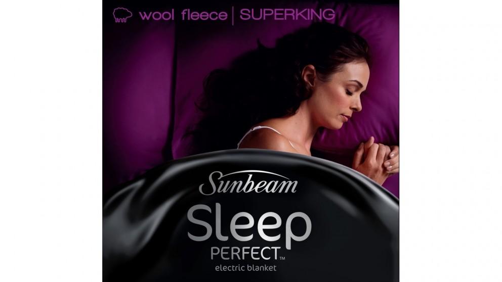 Sunbeam Sleep Perfect Super King Wool Fleece Electric Blanket