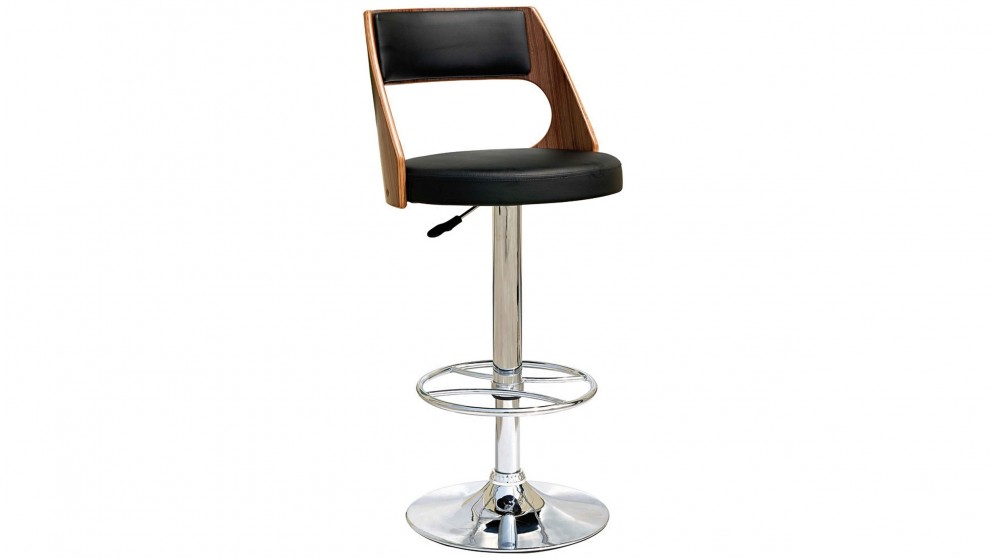 Saturn Bar Stool - Walnut/Black