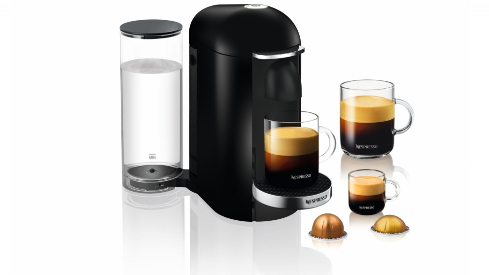 breville nespresso vertuo plus coffee machine black coffee machines coffee beverage. Black Bedroom Furniture Sets. Home Design Ideas