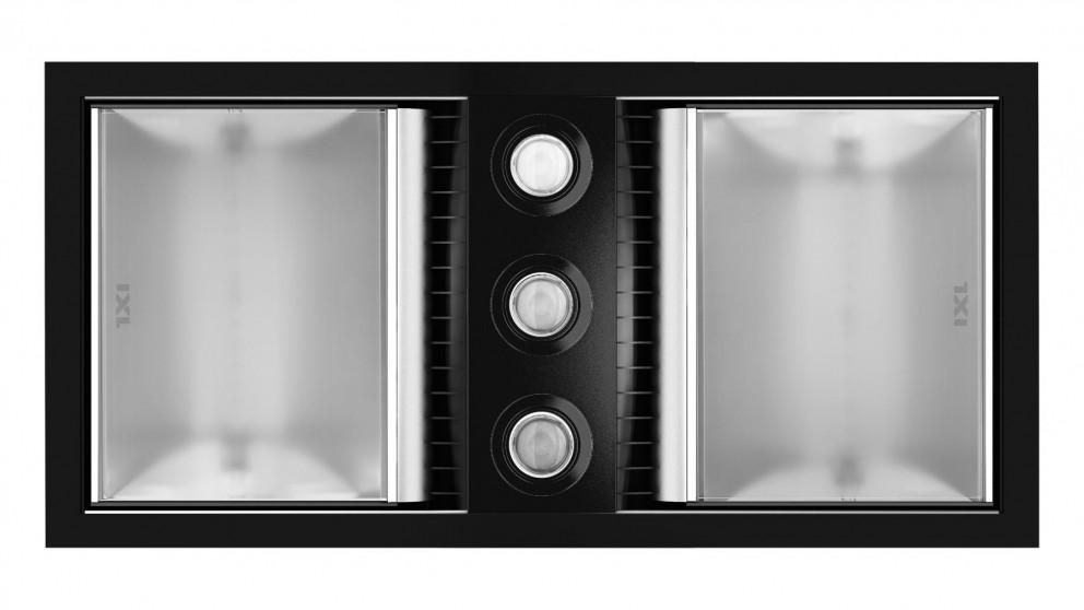 IXL Neo Tastic Dual Bathroom Heat, Fan & Light Matte Black Fascia
