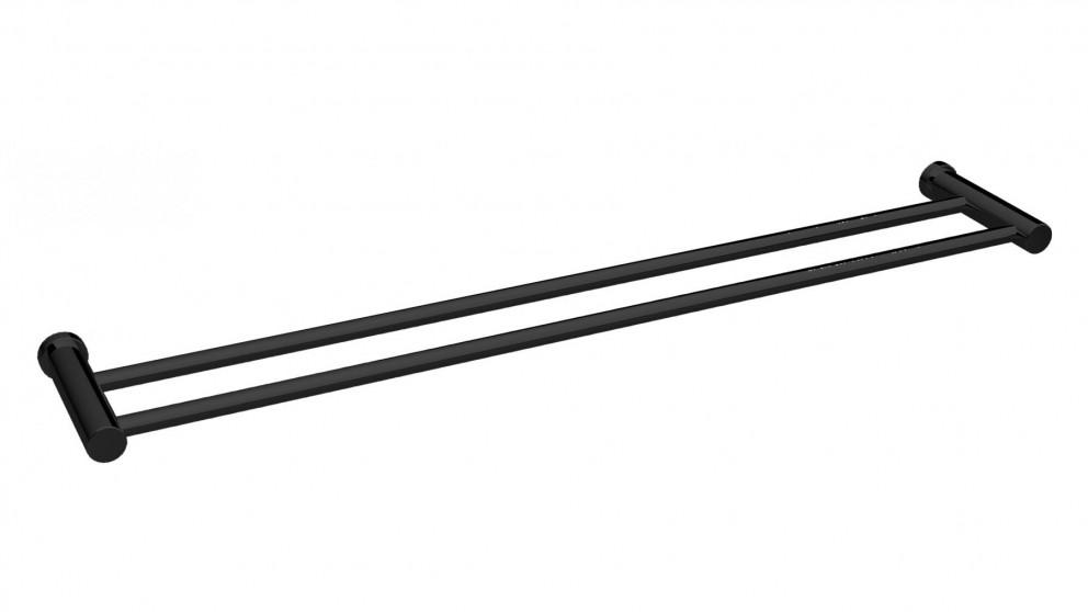Parisi Play 600 Double Towel Rail - Matte Black