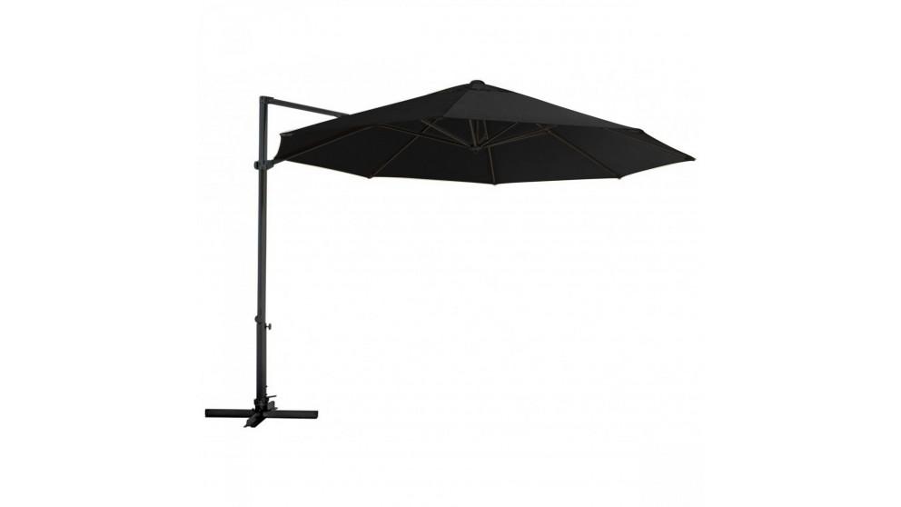 Pambula 3.3m Octagonal Cantilever Outdoor Umbrella - Black
