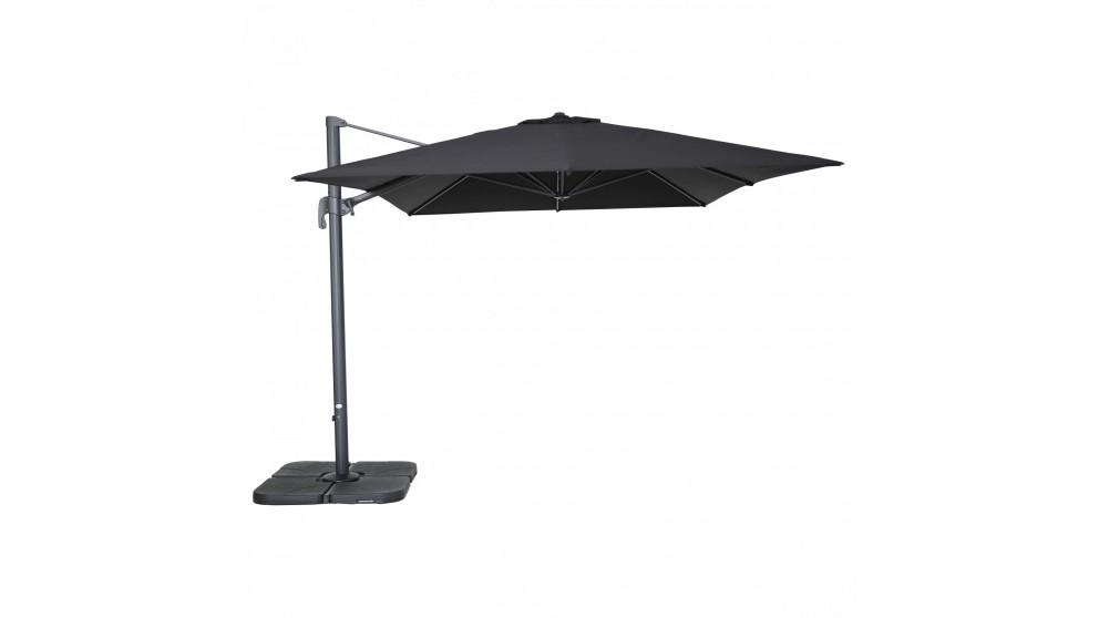 Shadow 3 x 4m Rectangular Cantilever Outdoor Umbrella - Black