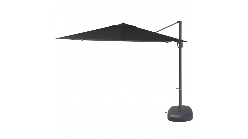 Pampa 3.5m Octagonal Cantilever Outdoor Umbrella - Black