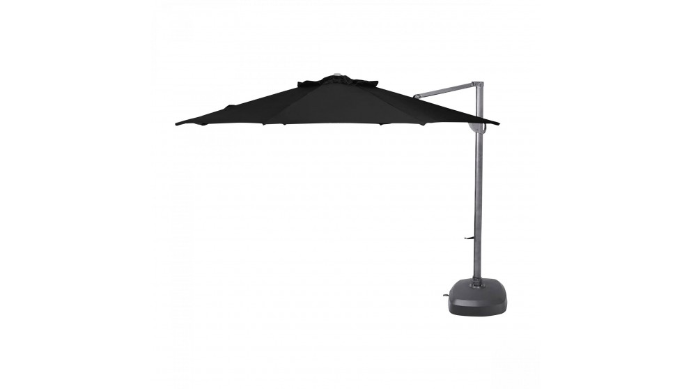 Vancouver 3.8m Octagonal Cantilever Outdoor Umbrella - Black