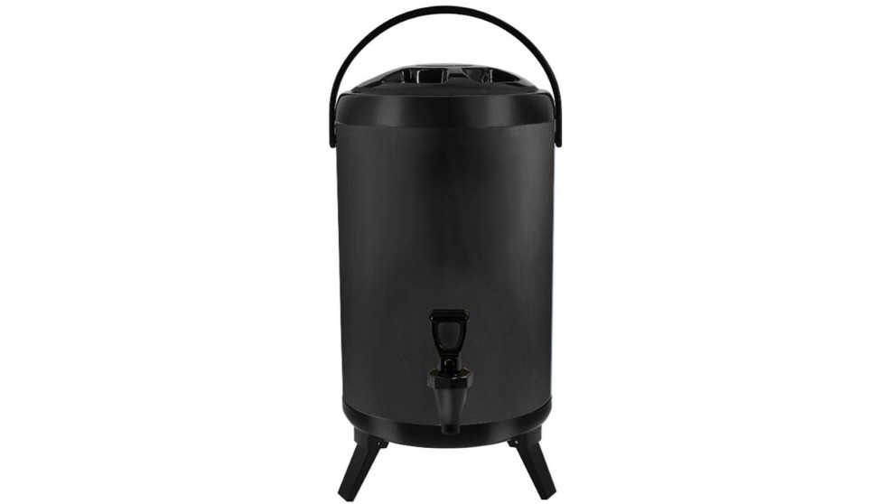 SOGA 14L Stainless Steel Milk Tea Barrel with Faucet - Black
