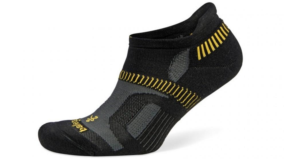 Balega Hidden Contour No Show Black/Yellow Socks - Small
