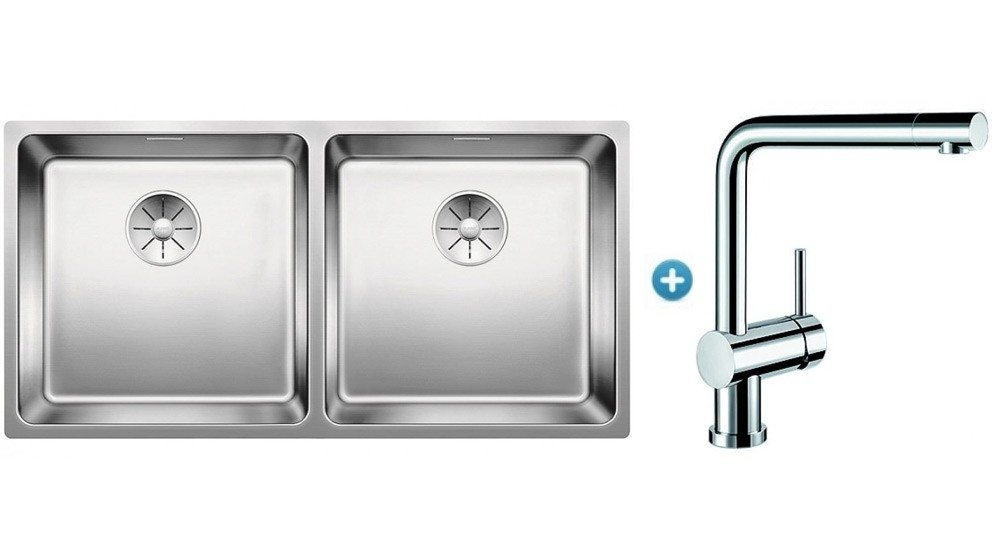 Blanco Double Bowl Undermount Sink Package