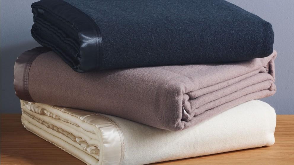 L'Avenue Queen/King Wool Blanket - Charcoal