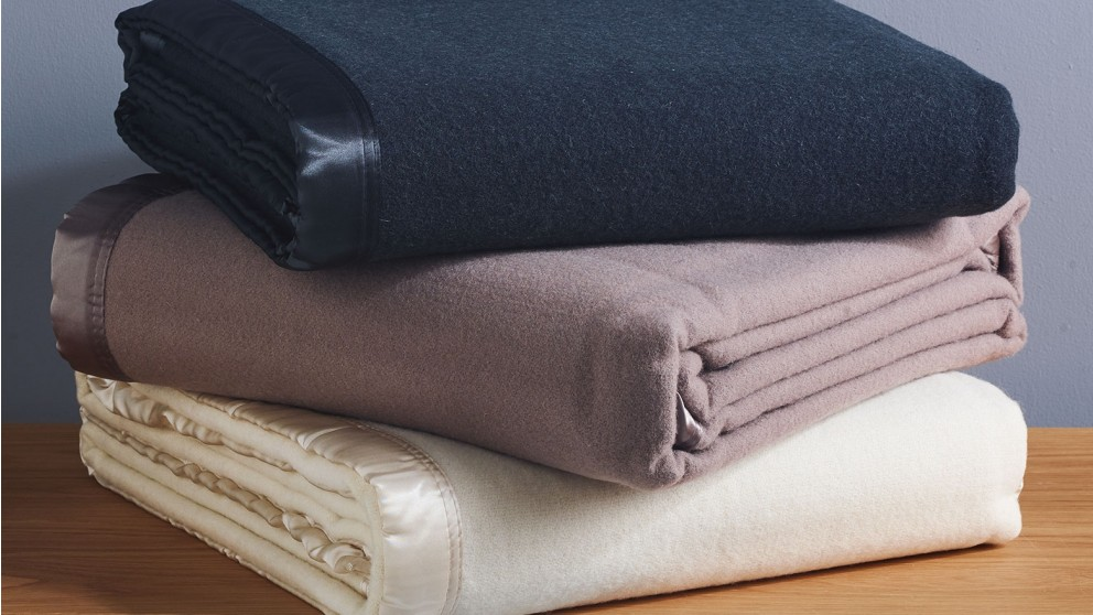 L'Avenue Single/Double Wool Blanket - Mocha
