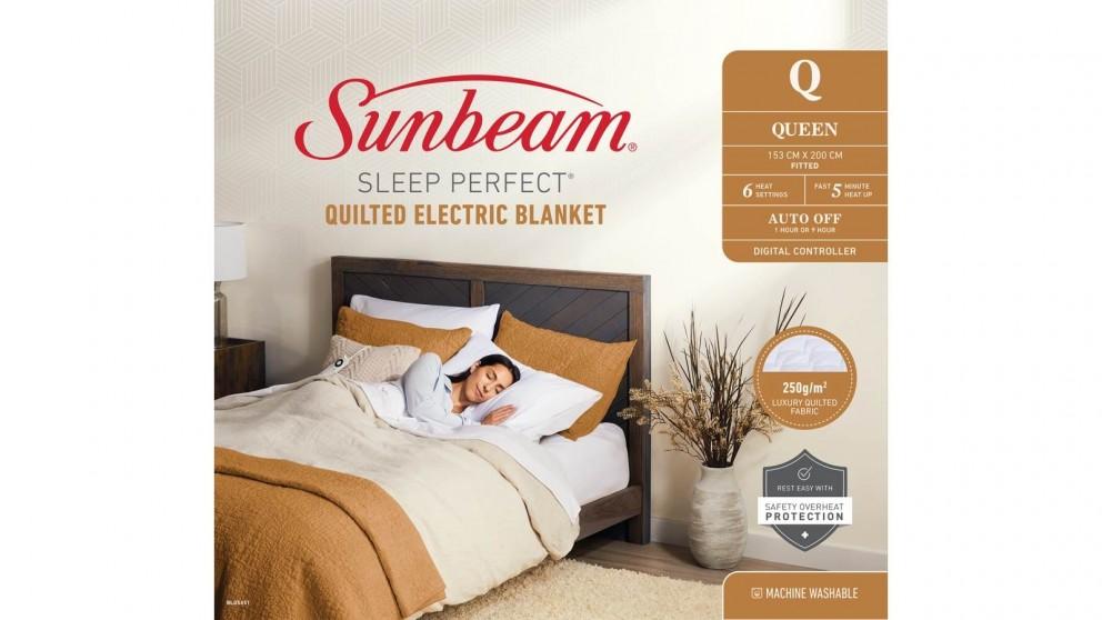 Sunbeam Sleep Perfect Quilted Queen, Sunbeam Sleep Perfect Quilted Electric Blanket Queen Bed Review