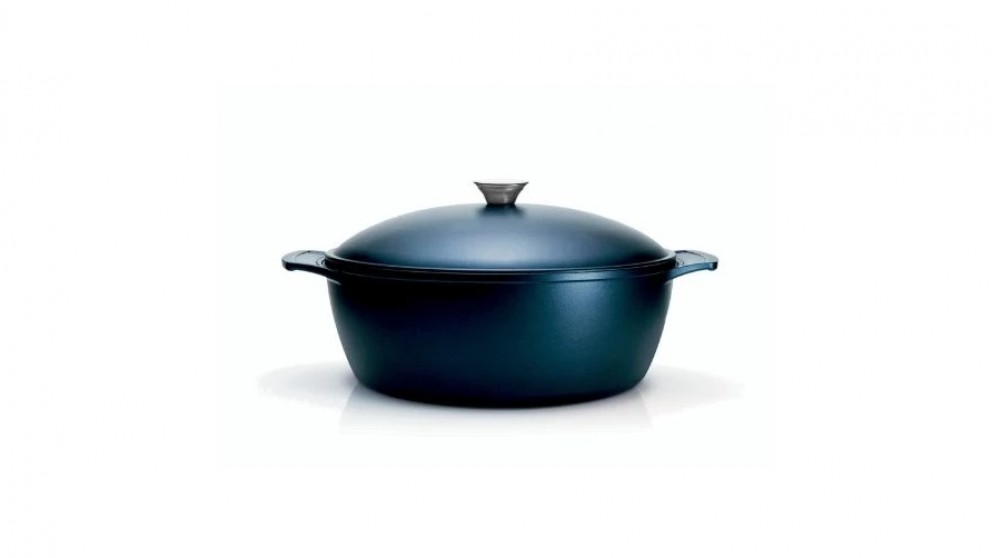 Tramontina 30cm Lyon Induction Casserole Starflon T5 Non-stick Coating - Dark Blue