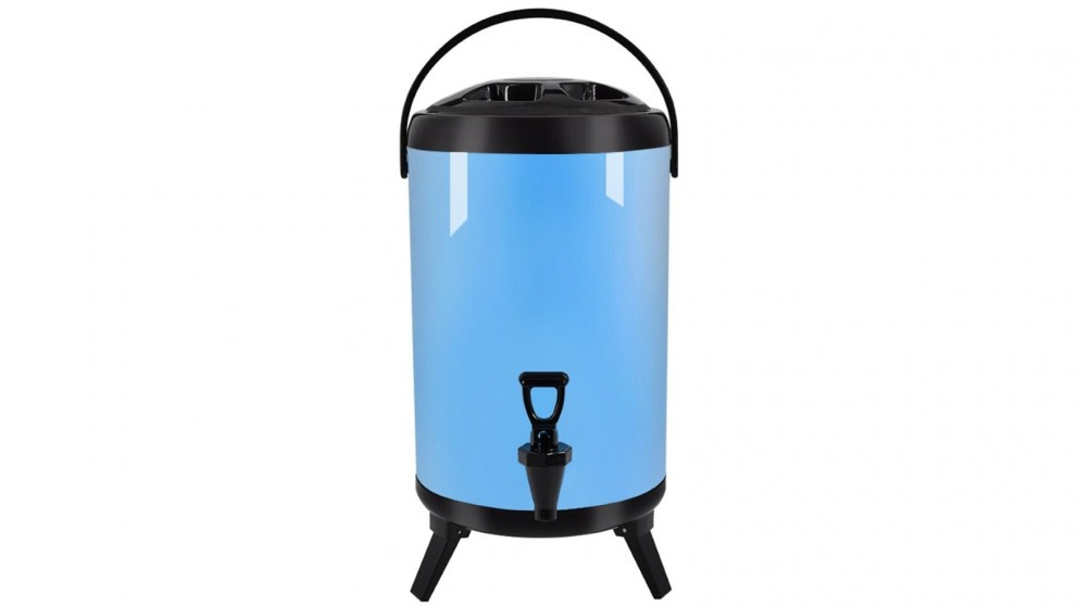 SOGA 8L Stainless Steel Milk Tea Barrel with Faucet - Blue