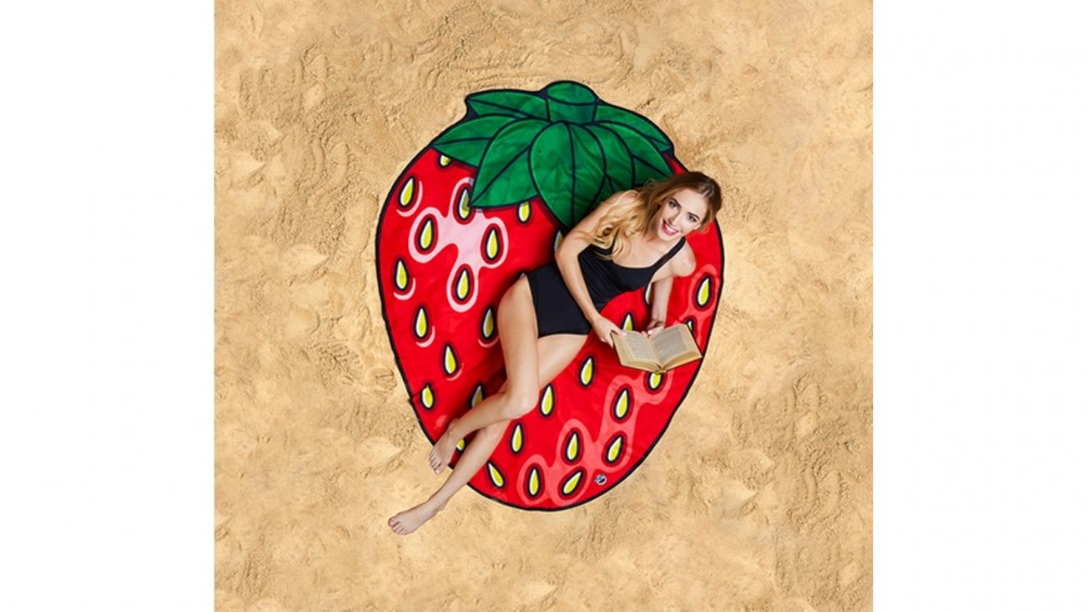 BigMouth Gigantic Strawberry Beach Blanket