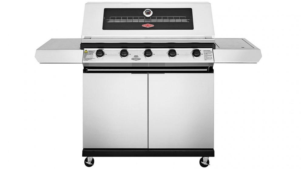 BeefEater 1200 5-Burner BBQ + Side Burner - Stainless Steel