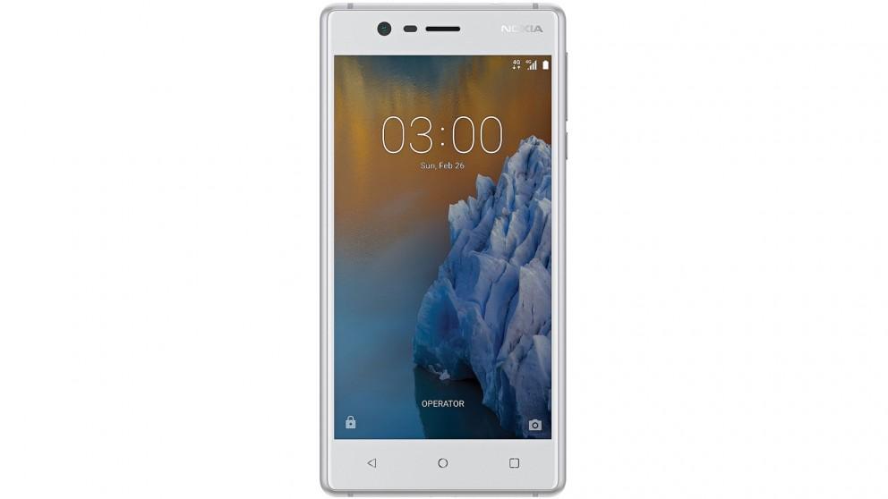 Vodafone Nokia 3 Pre-Paid Smartphone - White
