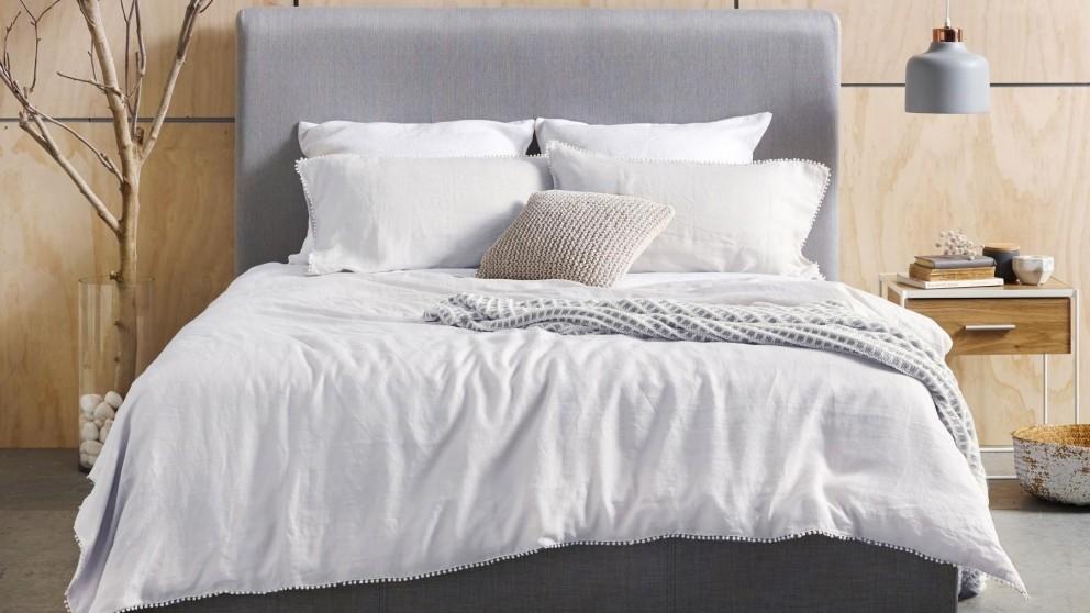 Boden White Quilt Cover Set - Queen