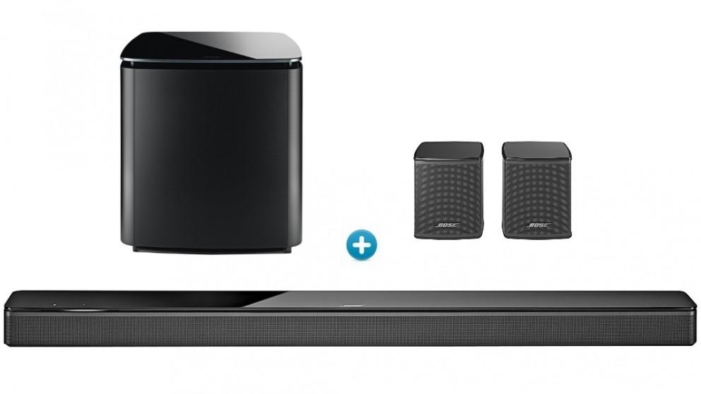 Bose 700 Soundbar + 700 Bass Module + Surround Speaker Bundle - Black