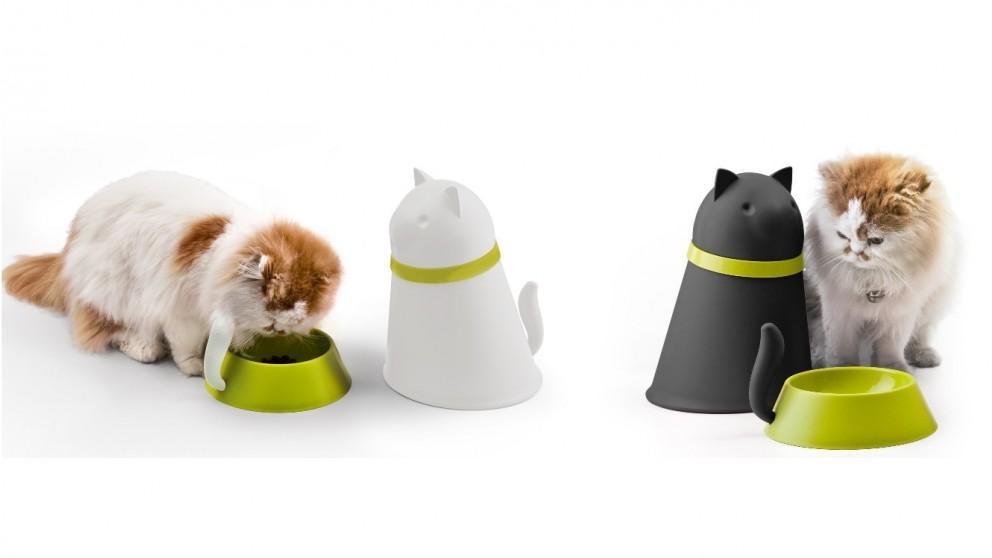 Qualy Kitt Pet Bowl with Storage