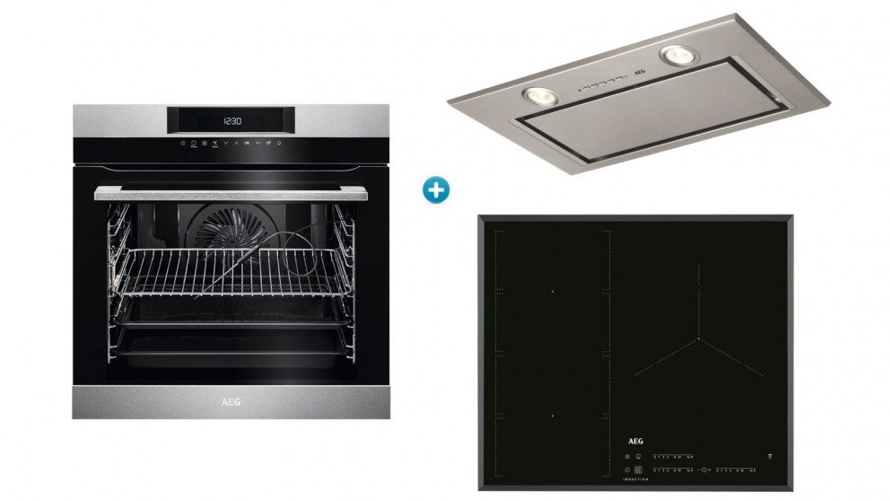 AEG 600mm PyroLuxe Oven with Induction Cooktop & Integrated Rangehood